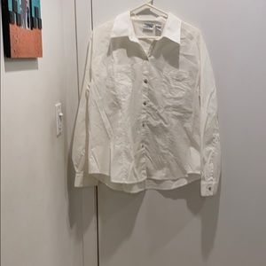 Chico's white blouse.